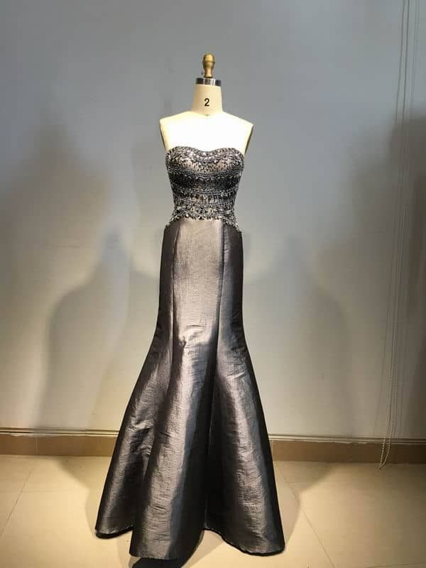 This platinum grey fitted satin evening gown can be made to order with any  changes. Sexy evening dresses canbe custom made for you. 6e03825a47c7