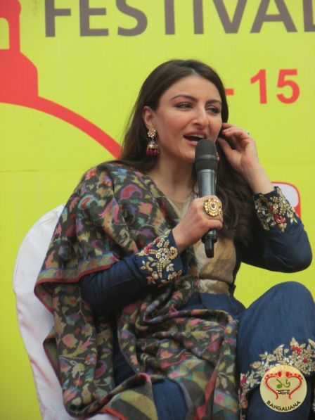Soha Ali Khan was engaged in a conversation by actor-writer Jayant Kripalani on her debut book titled The Perils of Being Moderately Famous at AKLF 2018.