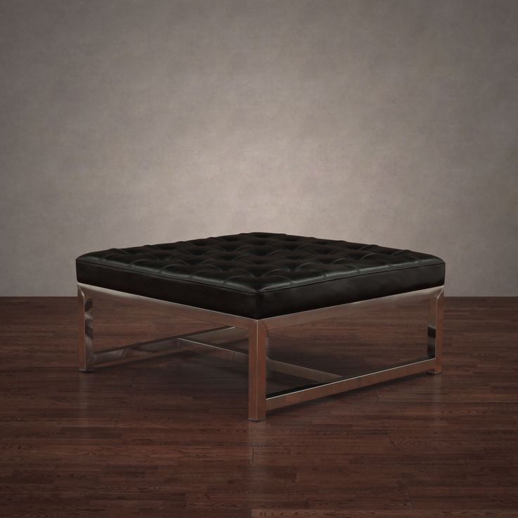 liberty large black leather ottoman overstock shopping great deals on ottomans