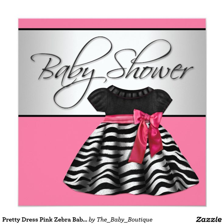 20 best Pink And Zebra Baby Shower Invitations images on Pinterest ...