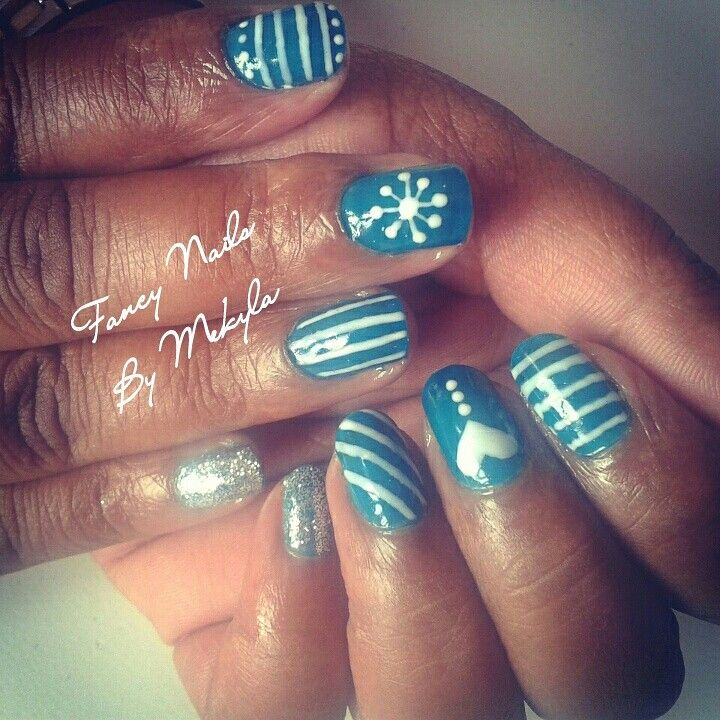 Free hand nail art (Bio Sculpture gel)