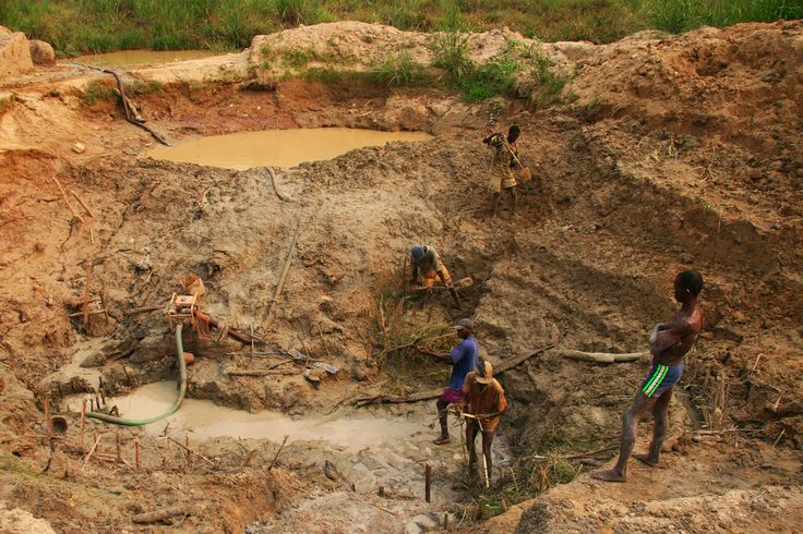 Tongo Diamond Fields, Sierra Leone -A former civil servant who turned to diamond mining after enduring 9 months without pay. The labor is hard, but is at least a reliable income.