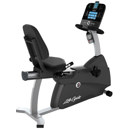 Prefer sitting down to ride? The Life Fitness R1 Lifecycle provides a comfortable ride that easy on the back!