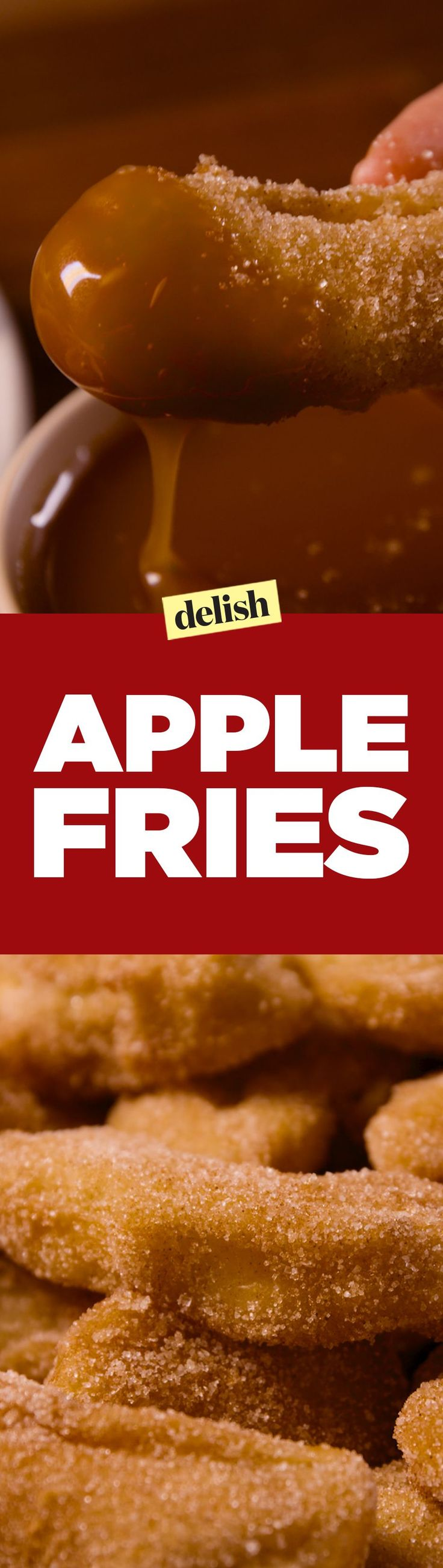 Apple fries dipped in caramel > French fries dipped in ketchup. Get the recipe on Delish.com.