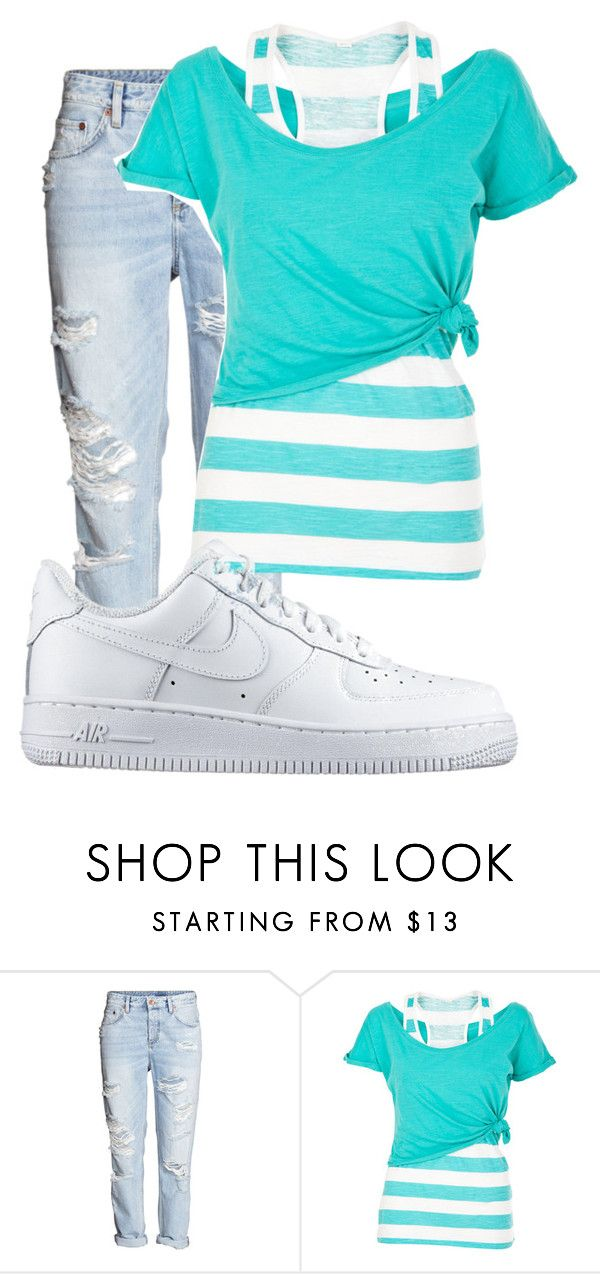 """""""Untitled #10063"""" by xxxlovexx ❤ liked on Polyvore featuring White Label and NIKE"""