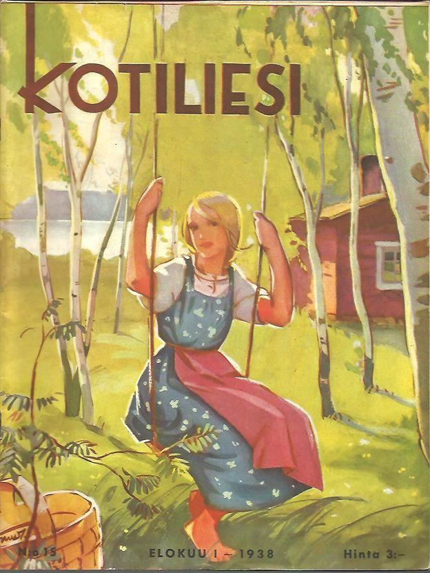 Kotiliesi Elokuu 1938 Martta Wendelin - this looks like my cousin Tina!