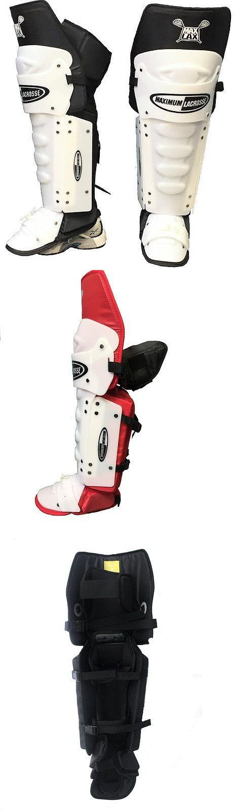 Protective Gear 62164: Maximum Lacrosse Box Goalie Shin Pads Cat 3 Mx-Sp-1000 Box Indoor Arena -> BUY IT NOW ONLY: $239 on eBay!