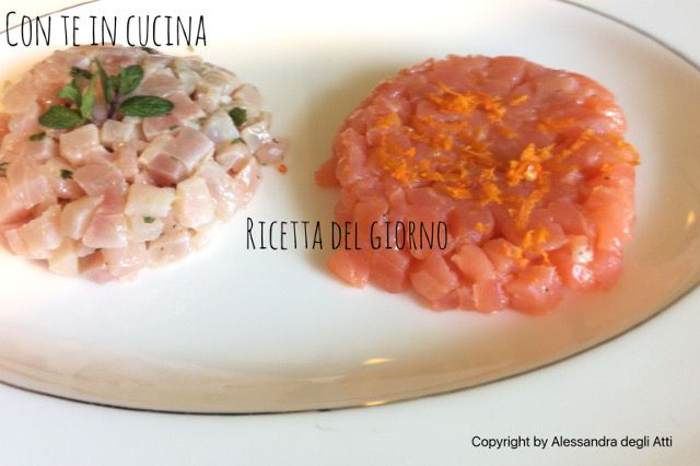 Con Te in Cucina: DUO DI TARTARE DI PESCE SPADA E SALMONE