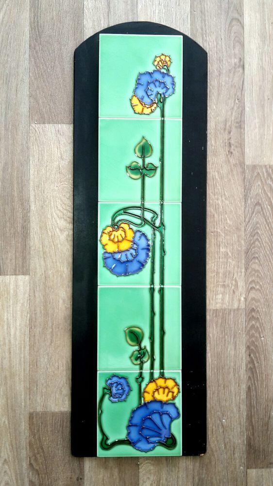 Tubo De Art Nouveau forrado Lareira cinco Telha Painel Em Excelente Estado! | Artigos antigos, Arquitetura e jardim, Azulejos e ladrilhos | eBay!