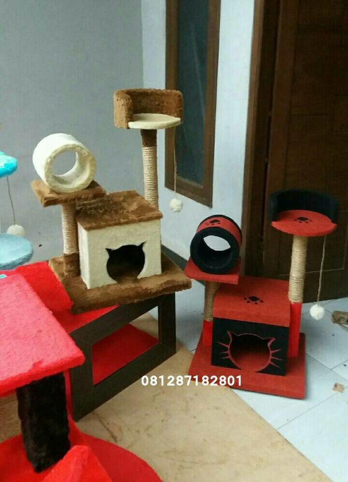 mainan kucing,cat condo,cat scratching,rumah kucing,cattree