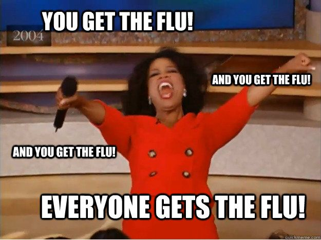 But you don't have to!  Get protected! Stop by our clinic at 1005 West Worley in Columbia for your flu vaccination!
