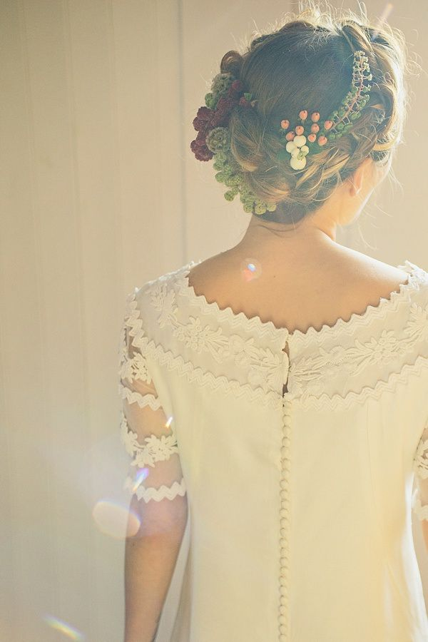 Halo Plait Braid Hair Flowers Moroccan Nights Wedding Ideas http://www.jessicawitheyphotography.com/