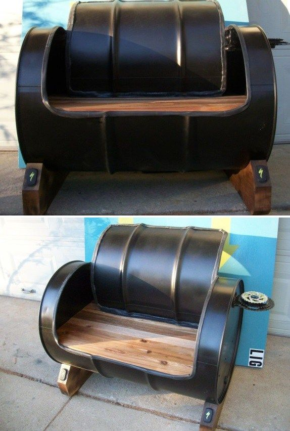 1000 ideas about oil drum on pinterest workshop ideas for Repurposed drum shelf