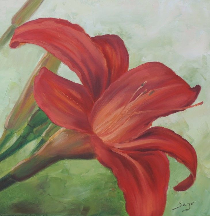 Sans titre (Painting),  24x24 cm par Sajó