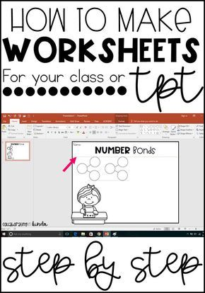 How to make worksheets using power point step by step directions