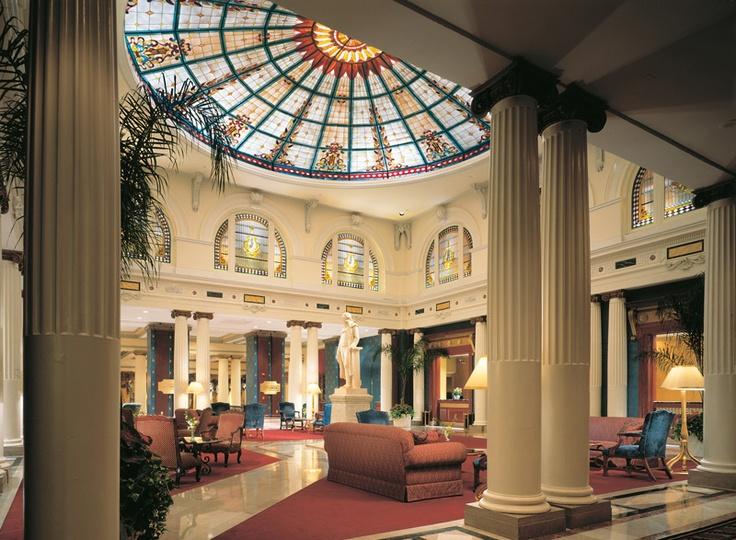 Tiffany Domed Lobby At The Jefferson Hotel Richmond Virginia
