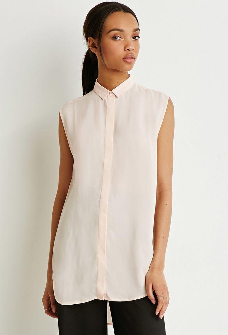Longline Chiffon Shirt $25