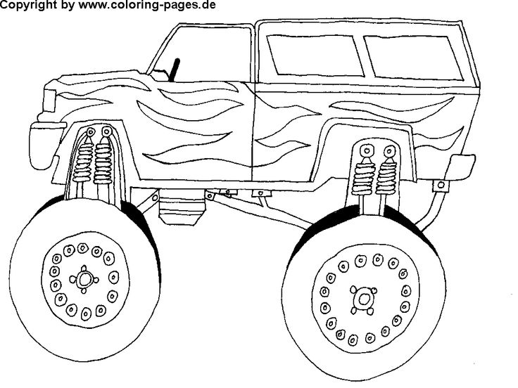free car coloring pages monster truck