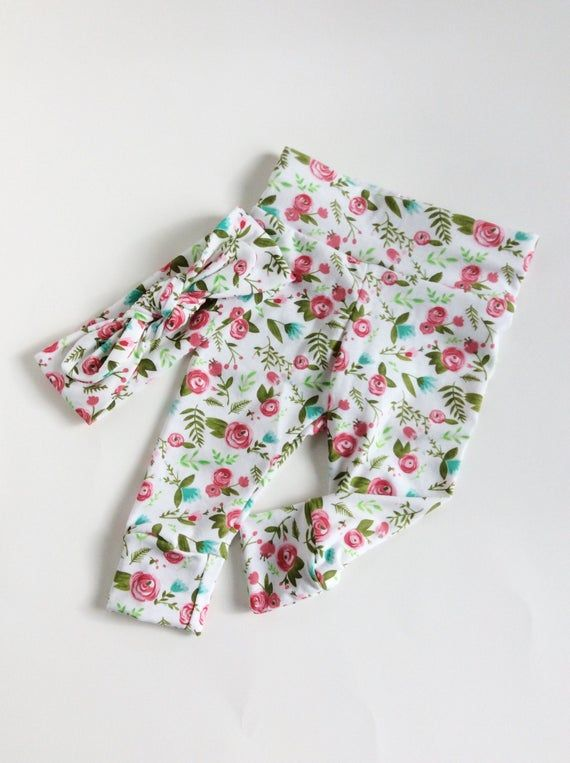 newborn floral headband newborn leggings and headband top knot headband baby floral leggings newborn floral leggings newborn leggings