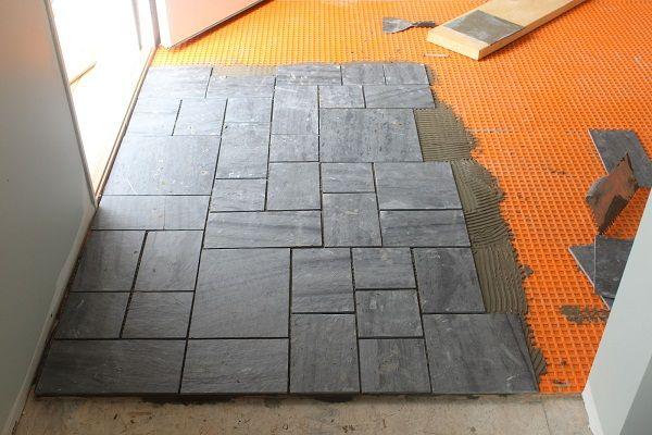 1000 ideas about slate tile bathrooms on pinterest - Tile installation bathroom floor ...