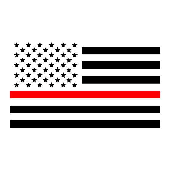 Thin Red line American Flag Firefighter Car by SouthernPrideDecals