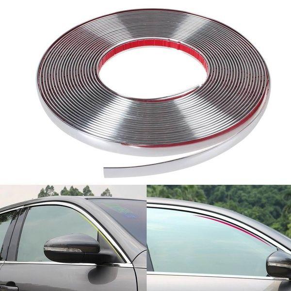 Online Shop 13m Silver Car Chrome Styling Decoration Moulding Trim Strip Tape Auto Diy Protective Sticker 6mm 8mm 10mm 12mm 15mm 20mm 30mm Diy Car Car Car Door
