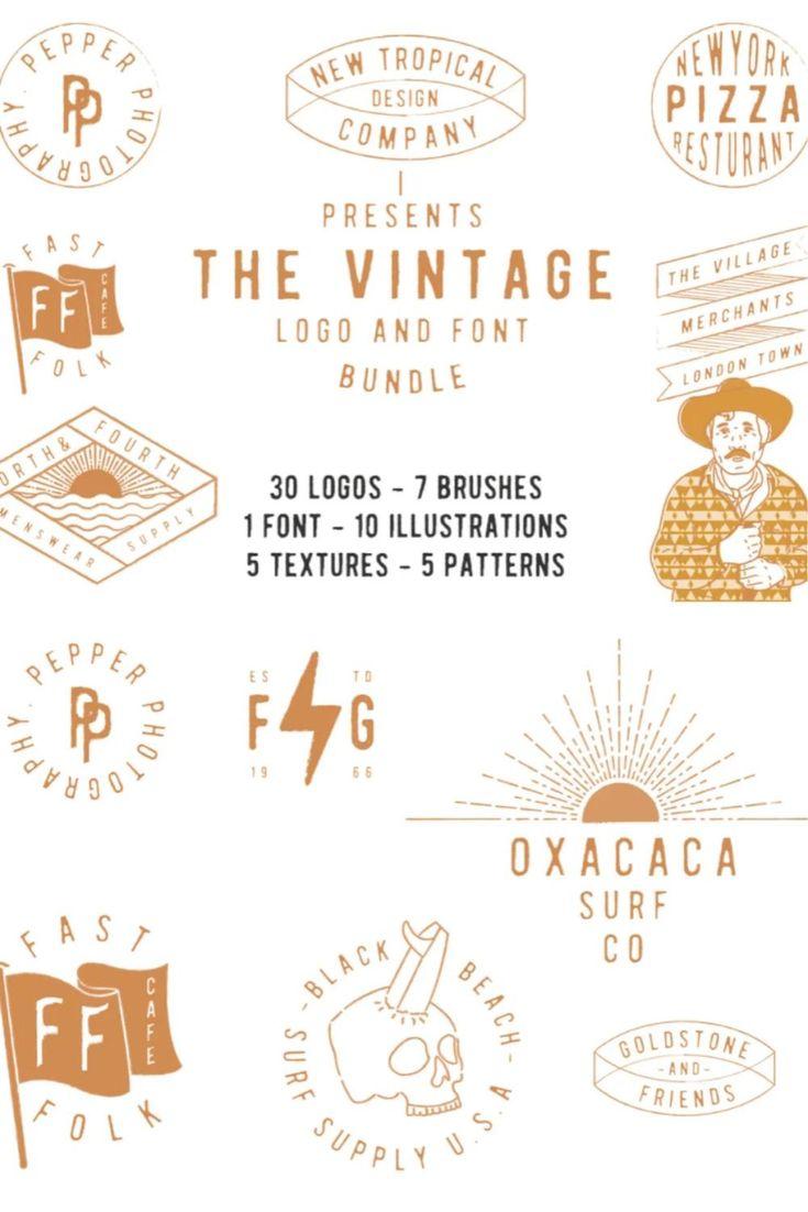 The vintage logo & font super bundle