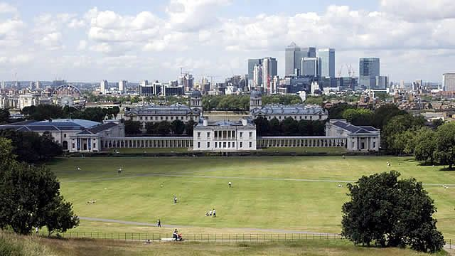 View from Greenwich Park. Copyright Anne Marie Briscombe