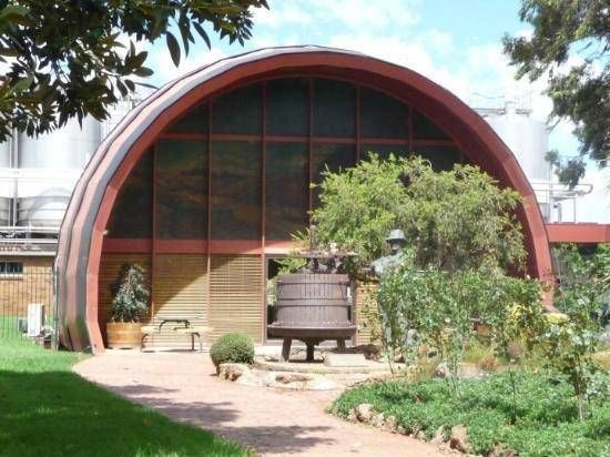 McWilliams Wines has been part of Griffith for 100 years, and is known for its quirky barrel shaped cellar door. #Griffith #Australia #wine #Riverina