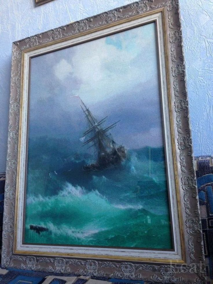 """ЭстЭ, """"Корабль в бурном море"""", по мотивам картины И. Айвазовского"""