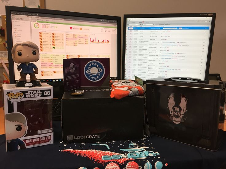 With NetCrunch automated network monitoring taking care of the network, we can enjoy our new #LootCrate in peace! #SysAdmin #Tech #StarWars #Halo5