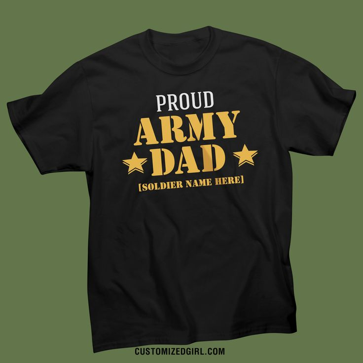 Your soldier loves you, so why don't you show how proud you are with this army dad shirt? It is the perfect way to let everyone know that your son or daughter is serving out country. This is also the perfect gift to give to your dad.