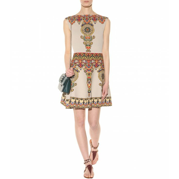 Ethnic Ornament Pattern Fit And Flare Silhouette Stretch
