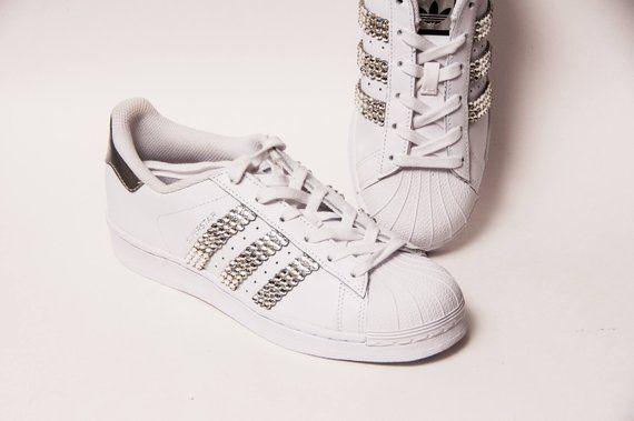 Adidas Sneakers Rhinestone Superstars Ii Fashion With Shoes rsQCthd