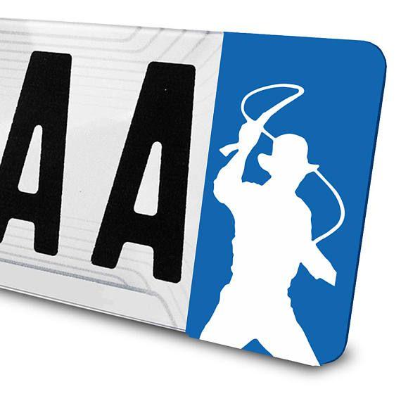 Sticker Indiana Jones pour plaques d'immatriculation