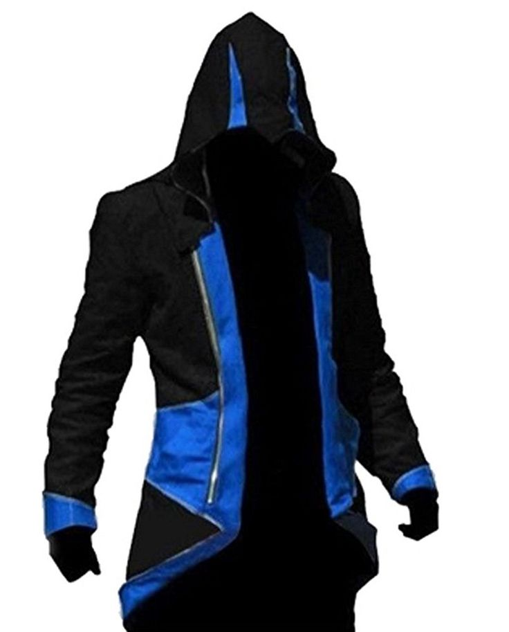 TEENTAGE Assassin's Creed 3 Connor Kenway Hoodie Jacket, Kid-Large, Black/Red at Amazon Men's Clothing store:
