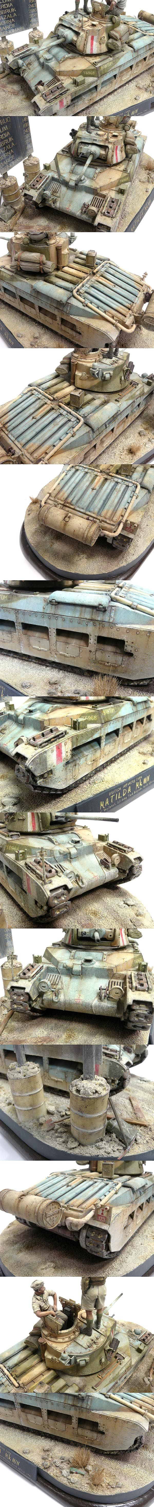 "Matilda Mk. III/IV. Phantom Regiment 1st Army Brigade. North Africa 1941. TAMIYA 1/35 scale. By Dennis ""Seed"" Wong. #scale_model #WW2 #tank"