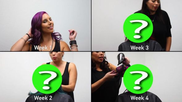 What happens when one woman gets four dramatic hair color makeovers in four weeks?