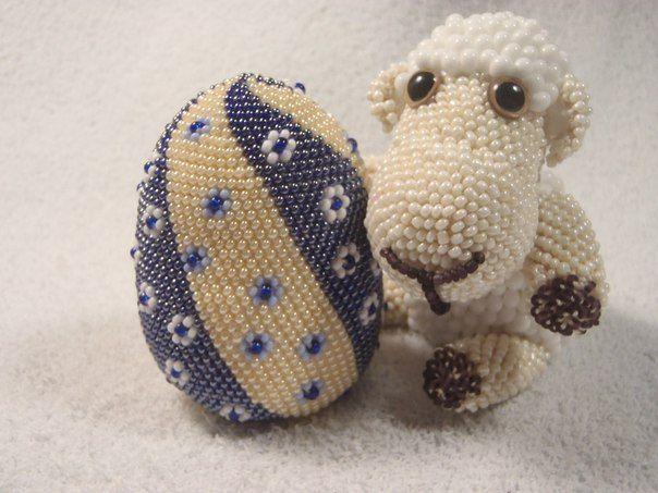 Пасхальное яйцо по МК Ирины Рудевич для участия в конкурсе. Вязание крючком с бисером. Crochet with Beads