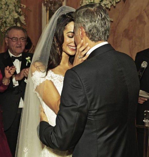 Amal Alamuddin and George Clooney Wedding Dress Photos By Hello Mag