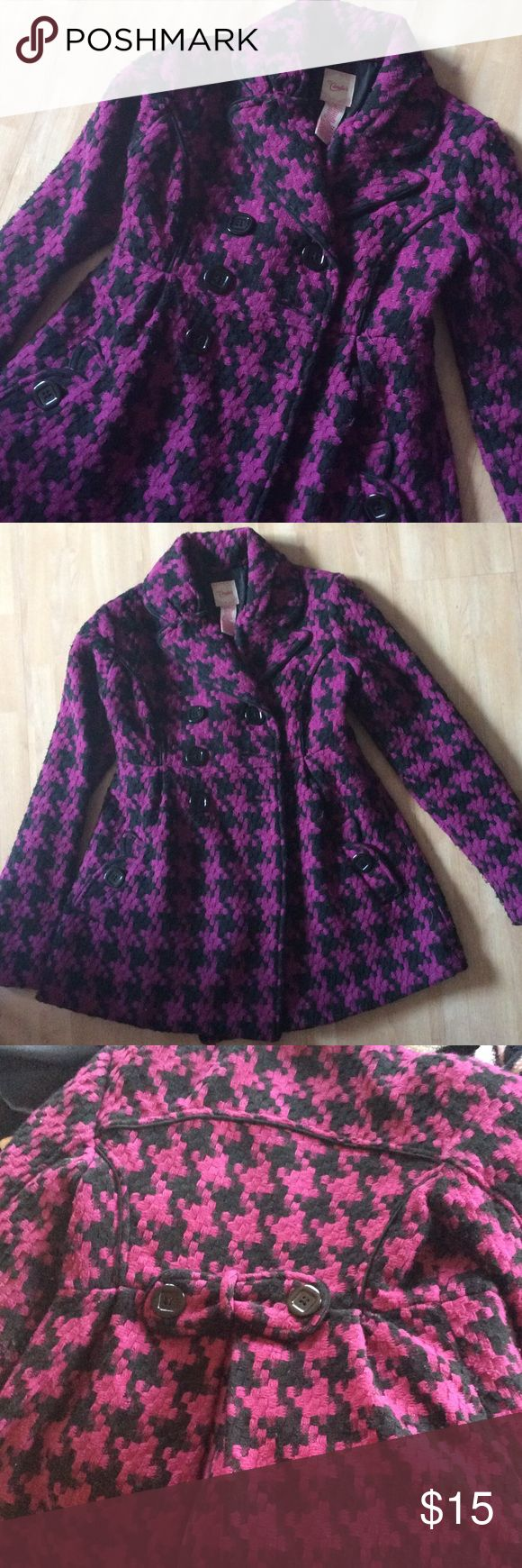 Candie's Pea Coat Look cute in the fall/winter with this purple and black pea coat! Candie's Jackets & Coats Pea Coats