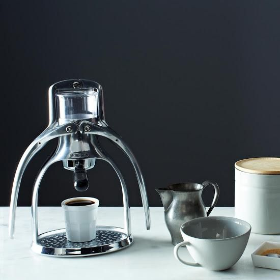 A stylish and sleek espresso maker for the coffee lover on your list. #rok #espresso #food52 #coffee #gift #holiday