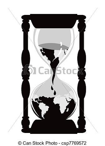 Vector.Reloj de arena del mundo.