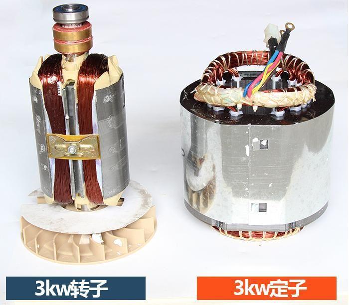 Fast shipping 3kW 220V 50Hz Flat shaft 19 rotor stator