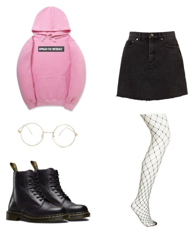 """Geen titel #10"" by shanisiavniel on Polyvore featuring mode, WithChic, Dr. Martens en Forever 21"