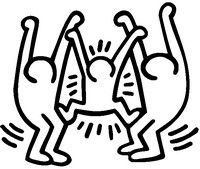 Coloring Pages Keith Haring Drawing