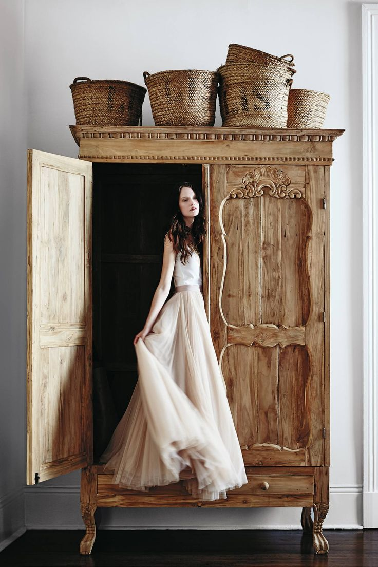 handcarved toren armoire from @anthropologie | ahsan skirt & perpetuity camisole from @BHLDN