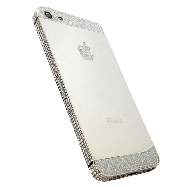 Platinum iPhone 5S - Crafted of platinum with a hand finished outer frame its home button and Apple logo are both inlaid with more than 900 Diamonds. The phones rear features a mirror finish polish and its screen is crafted of scratch-proof and shatter-proof Sapphire glass. | $6,360.00 on ( http://zocko.it/LyqH )