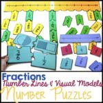 Engage students with a variety of Fraction Number Puzzles that provide practice with equivalent fractions, comparing fractions, and placing fractions on a number line. These are great for math stations or math centers.