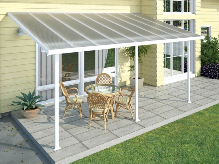 How To Build Sloped Wood Patio Cover Attached To House
